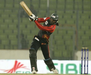 Chris Gayle on his way to a second BPL century, Barisal Burners v Dhaka Gladiators, Bangladesh Premier League, Mirpur, February 14, 2012