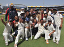 East Zone celebrate with the Duleep Trophy, Duleep Trophy, Central Zone v East Zone, Indore, 3rd day, February 14, 2012