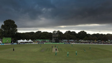Clouds loom over the Hagley Oval