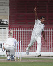 Sharif Asadullah bowled Ryan Flannigan, UAE v Scotland, Intercontinental Cup, 1st day, Sharjah, February 16, 2012