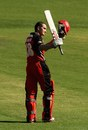Michael Klinger celebrates his century, Victoria v South Australia, Ryobi Cup, Melbourne, February 18, 2012