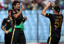 Sylhet's Sohail Tanvir celebrates a wicket, Khulna Royal Bengals v Sylhet Royals, BPL, Chittagong, February 18, 2012