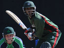 Rakep Patel waits for the ball during his 42 not out, Kenya v Ireland, WCL Championship, Mombasa, February 18, 2012
