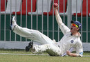Ryan Flannigan takes a catch at the boundary
