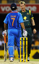 There was plenty of banter between Brett Lee and MS Dhoni