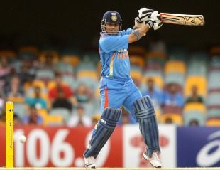 Sachin Tendulkar cuts through point, India v Sri Lanka, CB Series, Brisbane, February 21, 2012