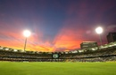 The Gabba at sunset, India v Sri Lanka, CB Series, Brisbane, February 21, 2012