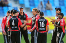 England players congratulate Danny Briggs on his maiden ODI wicket