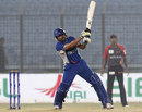 Nazmul Hossain Milon chances his arm, Barisal Burners v Khulna Royal Bengals, BPL, Chittagong, February 22, 2012
