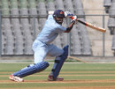 Wasim Jaffer scores through the off side during his century, Mumbai v Gujarat, Vijay Hazare Trophy, Wankhede Stadium, Mumbai, February 23, 2012