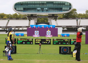 An archery event at Lord's ahead of the London Olympics, October 8, 2011
