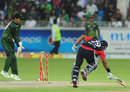 Samit Patel was run out by a direct hit from Saeed Ajmal