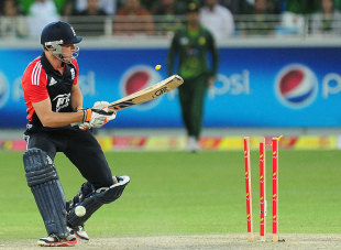 Jos Buttler missed another of his flip shots, Pakistan v England, 2nd Twenty20, Dubai, February 25, 2012