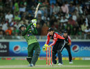 Hammad Azam gave Pakistan hope with some strong striking, Pakistan v England, 2nd Twenty20, Dubai, February 25, 2012