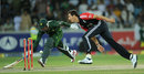 Steven Finn ran out Saeed Ajmal from his follow through