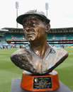 The bust of Donald Bradman that was presented to Sachin Tendulkar, Australia v India, CB Series, Sydney, February 26, 2012