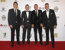 Australia's fast bowlers arrive at the 2012 Allan Border Medal Awards