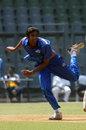 Rush Kalaria claimed 4 for 21 in nine overs, Gujarat v Saurashtra, Vijay Hazare Trophy 2011-12, Mumbai, February 28, 2012