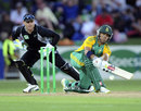 JP Duminy plays a lap-sweep, New Zealand v South Africa, 2nd ODI, Napier, February 29, 2012