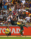 Michael Hussey is halfway through completing a spectacular catch, CB series, Melbourne, March 2, 2012