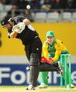 Colin de Grandhomme hits over the top on debut, New Zealand v South Africa, 3rd ODI, Auckland, March 3, 2012
