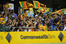 Sri Lankan fans cheer their team on at the Gabba, Australia v Sri Lanka, Brisbane, CB Series 1st final, March 4, 2012