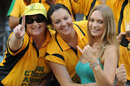 Fans cheer for Australia, Australia v Sri Lanka, Brisbane, CB Series 1st final, March 4, 2012