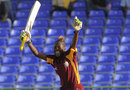 Shemaine Campbelle celebrates after hitting the winning runs, West Indies v India, 3rd women's ODI, St Kitts, March 4, 2012