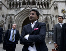 Lalit Modi leaves the High Court in London after a hearing in a libel case against him, London, March, 5, 2012