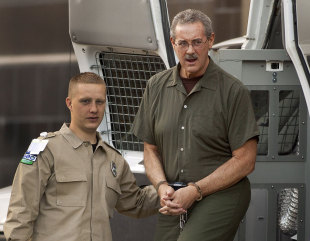 Allen Stanford arrives at the Bob Casey Federal Courthouse in Houston, where he will be tried for fraud, Houston, Texas, March 5, 2012
