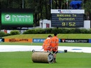 The ground staff at work at the University Oval, New Zealand v South Africa, 1st Test, Dunedin, 1st day, March 7, 2012