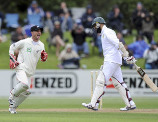 Hashim Amla walks off for 62, New Zealand v South Africa, 1st Test, Dunedin, 1st day, March 7, 2012