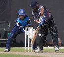 Swapnil Patil steered the UAE home with an unbeaten 55, UAE v Scotland, ICC World Cricket Championship, Sharjah, March, 7, 2012
