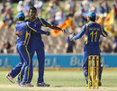 Sri Lanka celebrate a wicket, Australia v Sri Lanka, CB Series, 3rd final, Adelaide, March 8, 2012