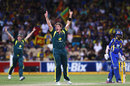 Shane Watson appeals successfully for Upul Tharanga's wicket