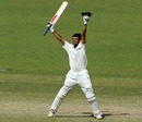 Rahul Dravid celebrates victory, Australia v India, 2nd Test, Adelaide, 16 December, 2003