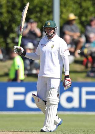 Jacques Kallis reaches his fifty, New Zealand v South Africa, 1st Test, Dunedin, 3rd day, March 9, 2012