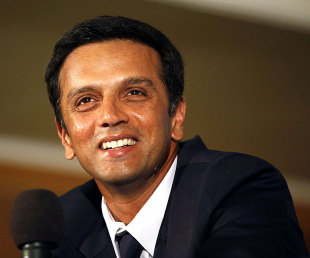 Rahul Dravid interacts with the media after announcing his retirement, Bangalore, March 9, 2012