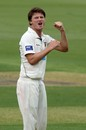 Jackson Bird celebrates a wicket