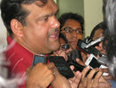 Bangladesh chief selector Akram Khan speaks to the media