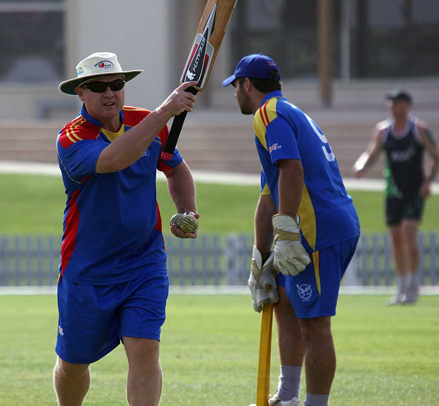 Daryll Cullinan oversees the drills during a training session