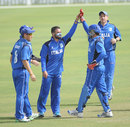 Italy celebrate a wicket against Oman, Italy v Oman, ICC World Twenty20 Qualifiers, Dubai, March 13, 2012