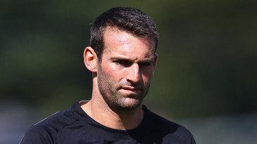 Andrew Ellis trains ahead of the Hamilton Test