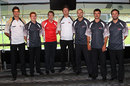Ben Cutting, Alister McDermott, James Faulkner, Jackson Bird, Jason Krejza, Nathan Reardon and Ed Cowan, who were named part of the ACA's All Star Team, at the 2012 State Cricket Awards, Brisbane, March 14, 2012