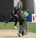 Boyd Rankin bowls Duncan Allan, Ireland v Kenya, ICC World Twenty20 Qualifier, Dubai, March 14, 2012
