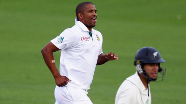 Vernon Philander took out a settled Ross Taylor