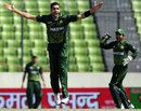 Umar Gul struck with the wicket of Dinesh Chandimal