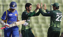 Hammad Azam's strike reduced Sri Lanka to 65 for 4, Pakistan v Sri Lanka, Asia Cup, Mirpur, March 15, 2012
