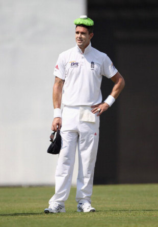 Kevin Pietersen attempts to keep cool in the field, Sri Lanka Board XI v England, Tour Match, Colombo, March 15, 2012