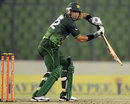 Misbah-ul-Haq plays one square on the off side, Pakistan v Sri Lanka, Asia Cup, Mirpur, March 15, 2012